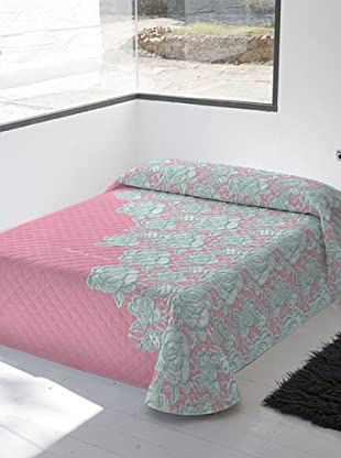Devota & Lomba Colcha Bouti Croche Rosa (Rosa / Verde / Gris)