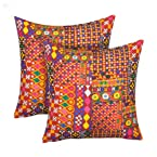 Cushion Cover Colourful Geometry 2-Piece Set - The Kutch
