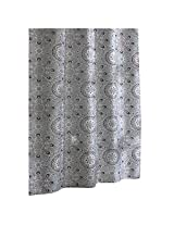 Ex-Cell Carthe Fabric Shower Curtain, 70 by 72-Inch, Grey/Purple