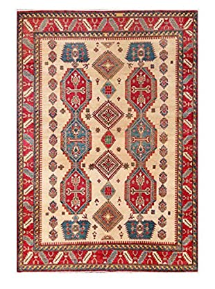 Bashian Rugs One-of-a-Kind Hand Knotted Paki Kazak Rug, Ivory, 7' 3