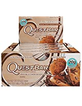 Quest Nutrition Protein Bar, Double Chocolate Chunk, 2.1 Ounce, 12 Count