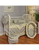 Burst Sterling 4 Piece Crib Bedding Set by HooHobbers