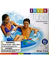TWO (2) PACK • Intex Transparent Swimming Pool Tube Raft = New 2015 Graphics = 58263ep Inflatable
