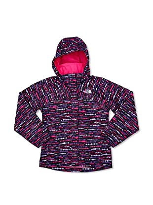 The North Face Chaqueta G Printed Resolve Kids (Negro / Rosa)