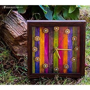 Footprints Forever Wood Clock