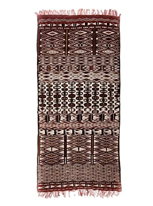 Hotel Marrakeche One of a Kind Hand Knotted Moroccan Rug, Red/Brown/Crème, 5' 2