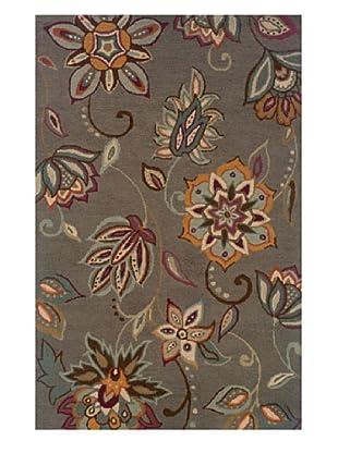 Granville Rugs Floral Garden Rug (Grey/Multi)