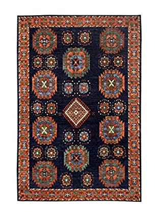 Bashian Rugs One-of-a-Kind Hand Knotted Paki Tribal Rug, Dark Blue, 6' x 9