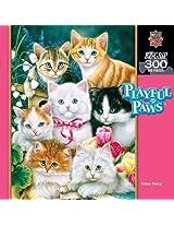 300-Piece Kitten Fancy Puzzle Art by Jenny Newland