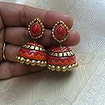 Gold Terracotta Traditional Jhumki Earring