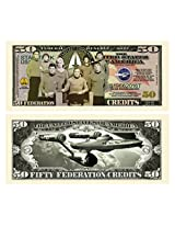 Set Of 10 Limited Edition Star Trek 50th Fifty Year Anniversary Collectible Novelty Bill