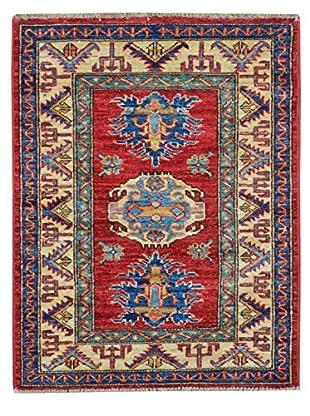 Kalaty One-of-a-Kind Kazak Rug, Red/Ivory, 1' 11