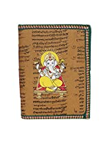 R S Jewels Loard Ganesha Printade Handmade Paper Multi Color Diary