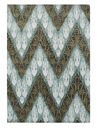 Alliyah Rugs New Zealand Wool Rug (Gold/Sand/Green Multi)