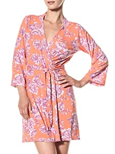 Cosabella Women's Tilly Print Robe (Coral Breeze)