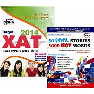 XAT Simplified 2014 (Past Papers + MCQS + GeneralAwareness 400) + 50 Cool Stories 3000 Hot Words