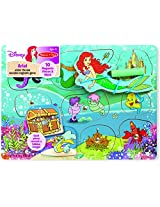 Melissa & Doug Disney Ariel Under The Sea Wooden Magnetic Game With 10 Magnetic Pieces and Wand