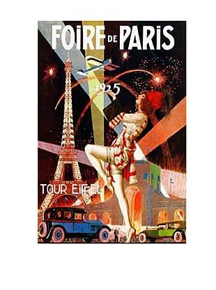 Foire de Paris Giclée Canvas Print