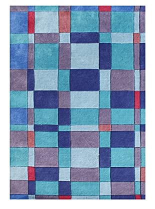 Horizon Rugs New Zealand Wool Rug (Blue Multi/Violet)