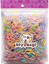 1 Bag Kids Mix Color Small Size Ponytail Hair Elastic Rubber Bands