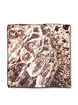 CHIC Women's Crystal Jewels Digital Square Silk Scarf, Jewels, One Size