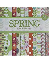 Assorted 8 by 8 Paper Pack - Spring (Set of 36 sheets)
