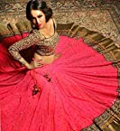 Sdfashions Style - Crimson Red Color Georgette Lehenga - S221 (Sia -S-Series)