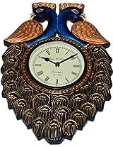 Unique Art Emporium Wooden Wall Clock (5 cm x 46 cm x 61 cm, Blue, UAJPEW004)
