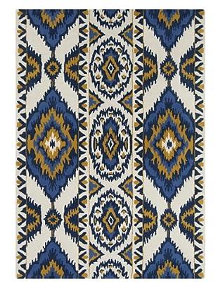 Chandra Amos Hand-Tufted Rug (Blue/White)