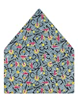 Tiekart Printed Silk Pocket Square (Ps358_Multi)