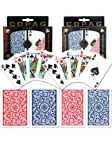 Copag Poker & Bridge Regular Index - Blue-Red - Set Of 2
