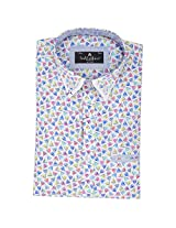 Fashionbean Men's White Party Wear Shirt