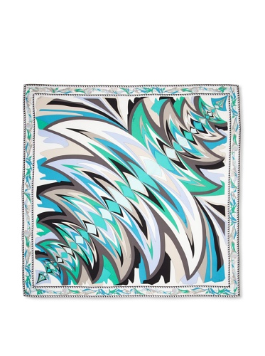 Emilio Pucci Women's Flare Square Scarf (Turquoise)