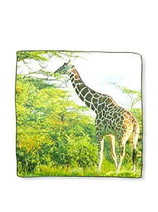 CHIC Women's Giraffe Digital Square Silk Scarf, Multi, One Size