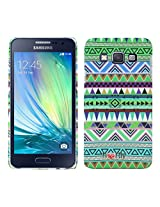 Heartly Aztec Tribal Art Printed Design Retro Color Armor Hard Bumper Back Case Cover For Samsung Galaxy A3 SM-A300F - Nature Green
