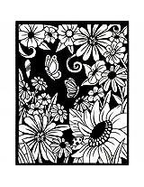Darice Vp1620 4823 Color In Velvet Poster 16 X20 Flower Garden