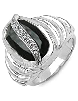 Silverona Onyx Silver Ring