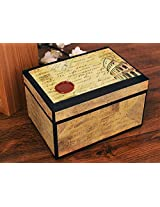 Store Indya Attractive Hand Crafted Storage Box with Illustrations of the Colosseum