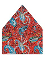 Tiekart Printed Silk Pocket Square (Ps365_Multi)