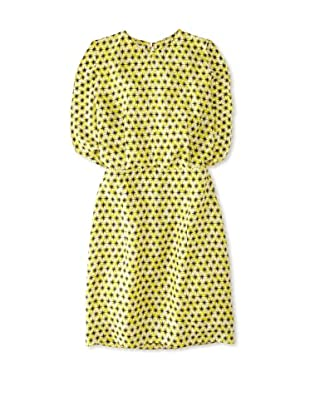 MARNI Women's Star Printed Drape Back Dress (Yellow Print)