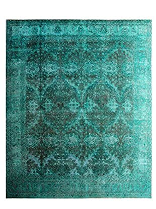 nuLOOM One-of-a-Kind Vintage Hand-Knotted Overdyed Rug, Green, 9' 8
