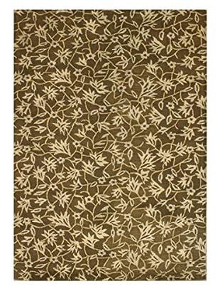 Bloom Rug, Brown/Tan, 5' x 8'