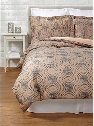 Belle Epoque Terracotta Circles Duvet Cover Set