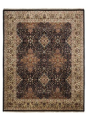Darya Rugs Kashan Hand-Knotted Rug, Navy/Ivory, 8' x 9' 10