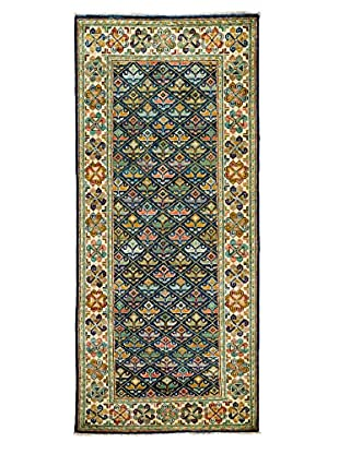 Darya Rugs Traditional Oriental Rug, Navy, 4' x 9' 6