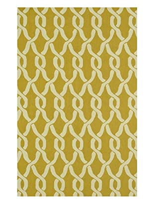 Venice Beach Indoor/Outdoor Rug (Goldenrod/Ivory)
