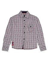 Smart Tattersall Checked Full Sleeve Boys Shirt Red