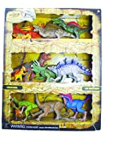 12 Poseable Dinosaurs Mega Playset (Age 3+) Encourages Creative Play And Learning