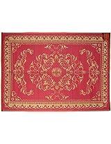 Agra Dari Woolen Carpet - 60'' x 84'' x 0.4'', Pink