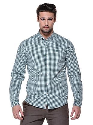 Timberland Camisa Gingham Meriden (Blanco/Verde)